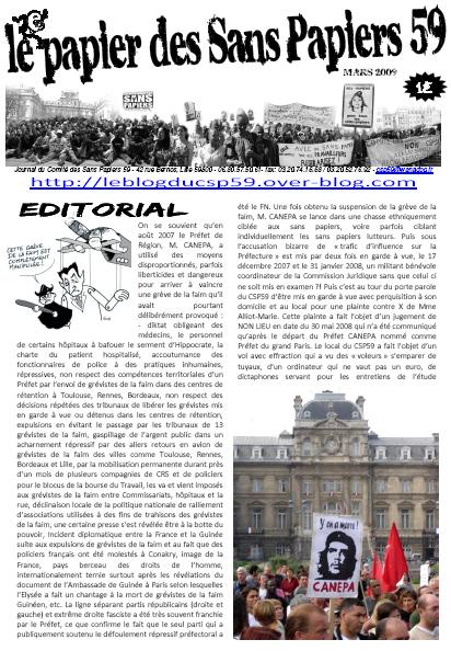une-journal-csp59-mars-2009