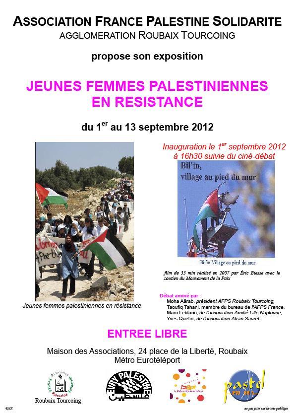 Jeunes femmes palestiniennes en résistance