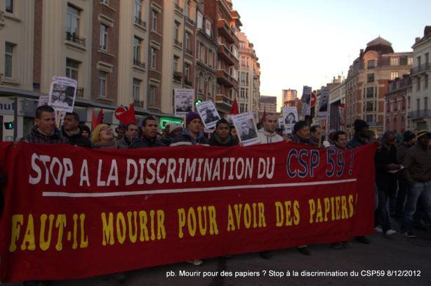 Les Sans Papiers en grève de la faim