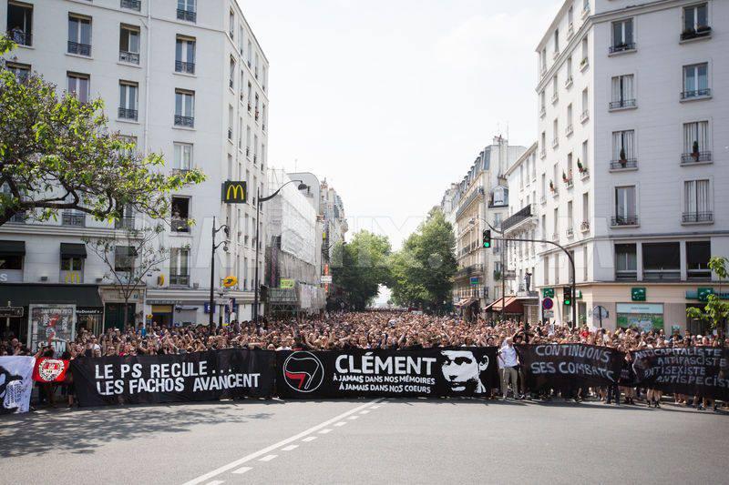 Manifestation  à Paris pour Clément Méric