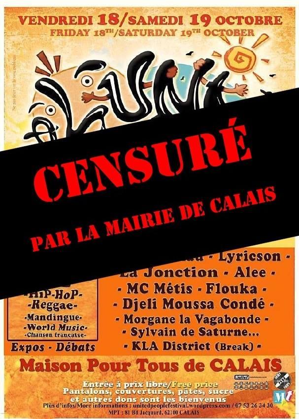 Festival de Calais censuré