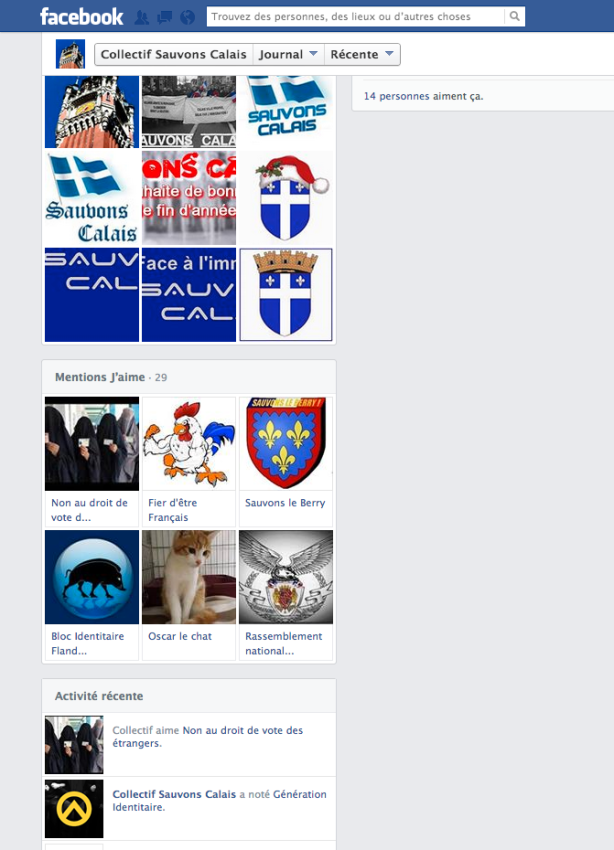 Facebook Sauvons Calais