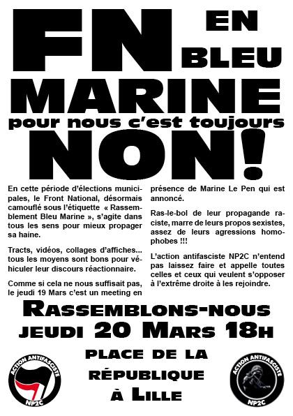 Rassemblement Anti-FN à Lille