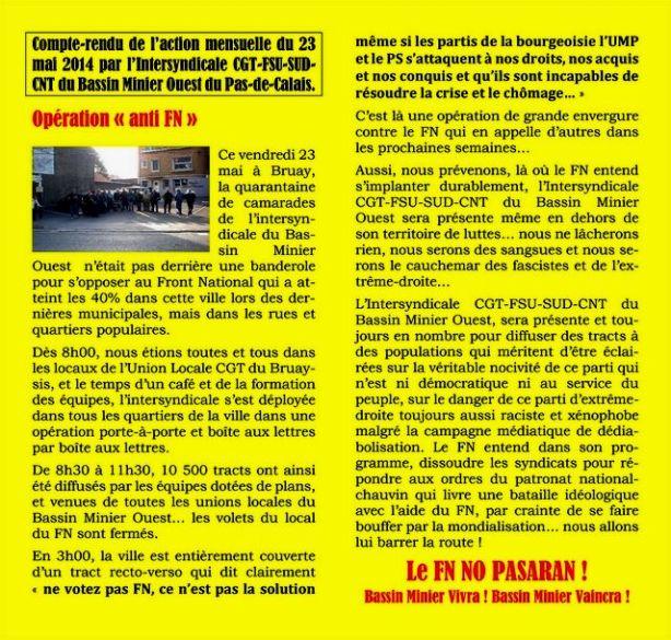 Opération anti-FN à Bruay-la-Buissière