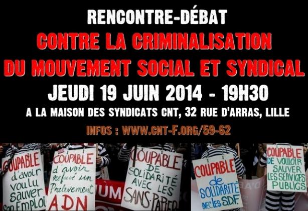 Rencontre débat contre la criminalisation du mouvement social
