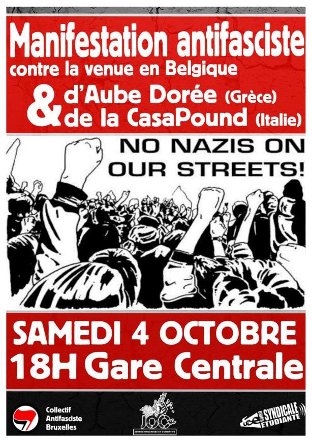 Bruxelles Aube Dorée Casapound