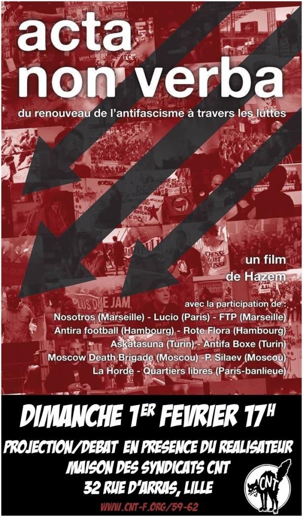Acta non verba CNT Lille