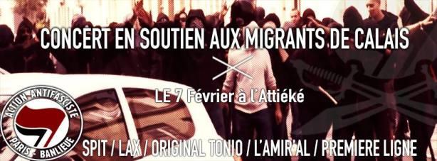 Concert de soutien aux migrants de Calais