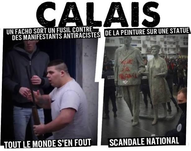 """Tag """"nik la France"""" sur la statue de De Gaulle"""