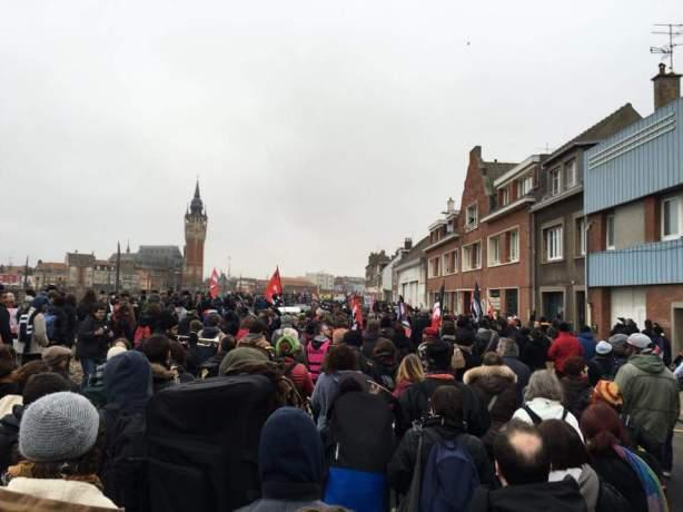 3000 personnes à la manif de Calais