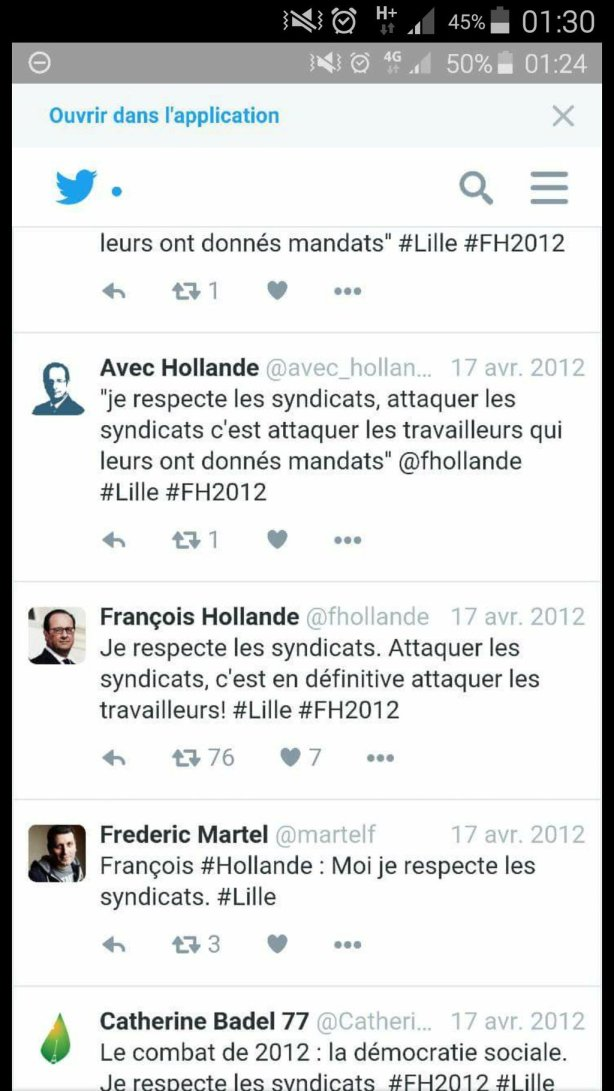 Hollande syndicats