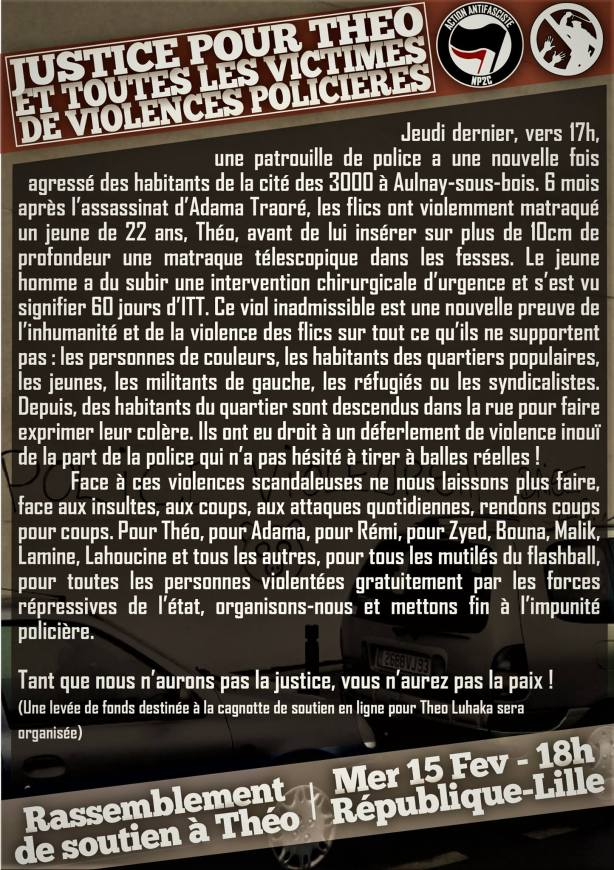 Justice pour Théo à Lille